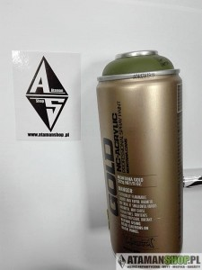 FARBA montana cans gold 400 cl6340 olive green zielony 400ML ATAMANSHOP.PL