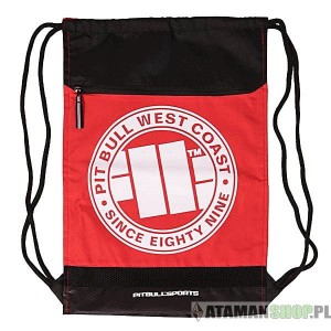 PIT BULL West Coast plecak worek SHOE BAG BLACK RED